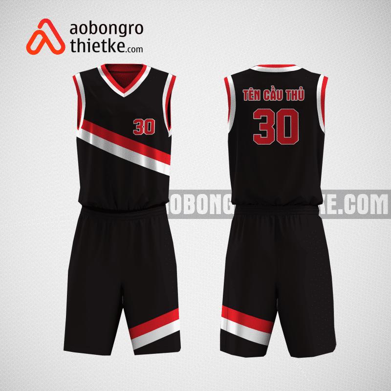 Mẫu áo bóng rổ tự thiết kế màu đỏ đen Card ABR2