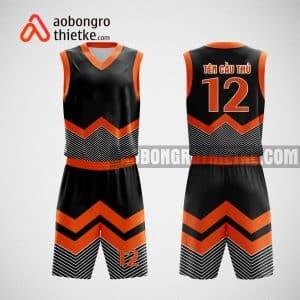 Mẫu đồng phục bóng rổ thiết kế màu cam Sky Mining ABR19