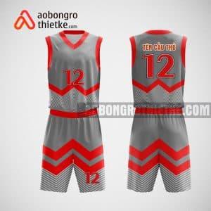 Mẫu đồng phục bóng rổ thiết kế màu đỏ xám BEELINE ABR23