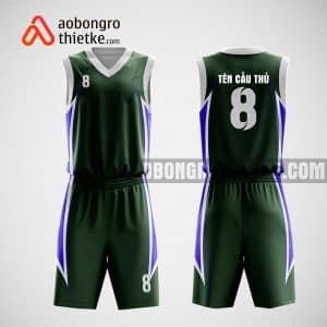 Mẫu đồng phục bóng rổ thiết kế màu xanh Cà Mau ABR18