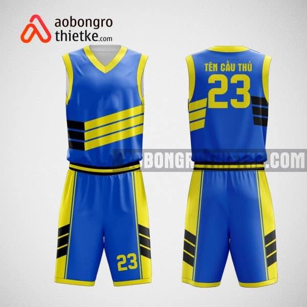 Mẫu đồng phục bóng rổ thiết kế màu xanh dương SKY BLUE ABR25