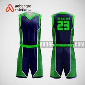 Mẫu đồng phục bóng rổ thiết kế màu xanh green park ABR21