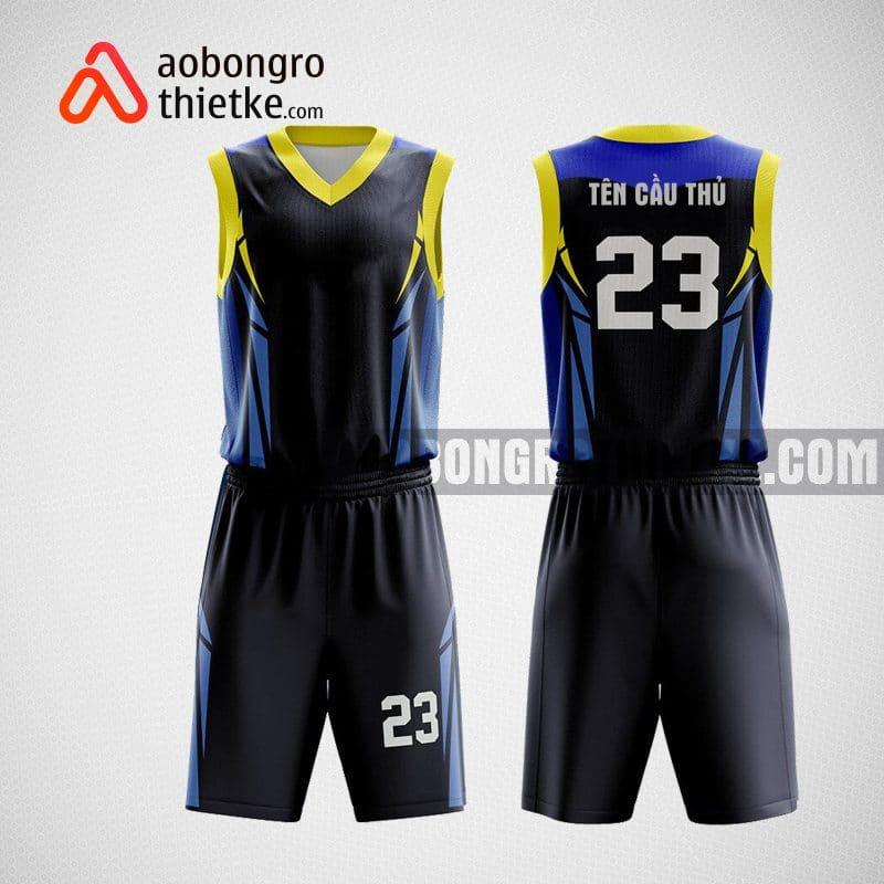 Mẫu quần áo bóng rổ chính hãng màu đen ABR16
