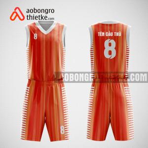 Mẫu quần áo bóng rổ thiết kế màu cam Amazing ABR9
