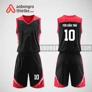 Mẫu quần áo bóng rổ thiết kế màu đỏ đen RED TEAM ABR5