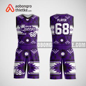 Mẫu quần áo bóng rổ thiết kế màu tím Queeens ABR4