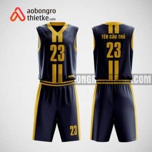 Mẫu quần áo bóng rổ thiết kế màu vàng đen Kiên Giang ABR14