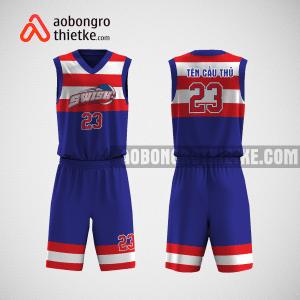 Mẫu quần áo bóng rổ thiết kế màu xanh đỏ Swish ABR1