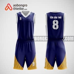 Mẫu quần áo bóng rổ thiết kế màu xanh tím than Car team ABR8