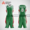Mẫu quần áo bóng rổ thiết kế màu xanh xanh lá green ABR7