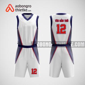 Mẫu quần áo bóng rổ thiết kế trắng xanh Nghệ An ABR17