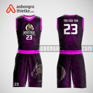 Mẫu quần áo bóng rổ thiết kế màu tím đen horse ABR128