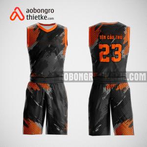 Mẫu quần áo bóng rổ thiết kế màu cam đen black lion ABR136