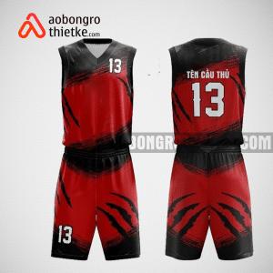 Mẫu quần áo bóng rổ thiết kế màu đỏ đen tiger ABR203
