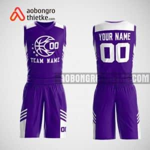 Mẫu đồng phục bóng rổ thiết kế màu TÍM ABR51