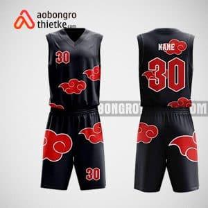 Mẫu đồng phục bóng rổ thiết kế màu đen black clouds ABR39