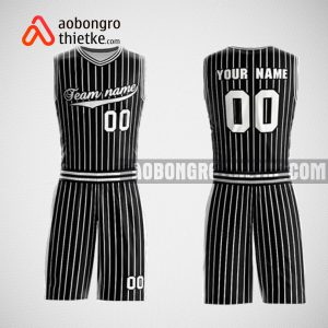 Mẫu đồng phục bóng rổ thiết kế màu đen black vertical ABR47