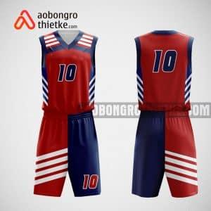 Mẫu đồng phục bóng rổ thiết kế màu đỏ ABR61