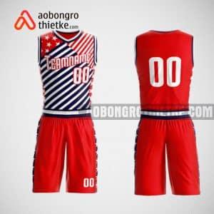 Mẫu đồng phục bóng rổ thiết kế màu đỏ fashion men ABR45