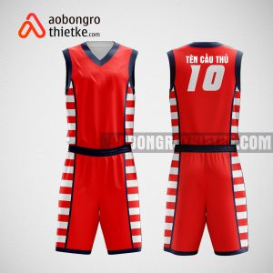 Mẫu đồng phục bóng rổ thiết kế màu đỏ red ABR26