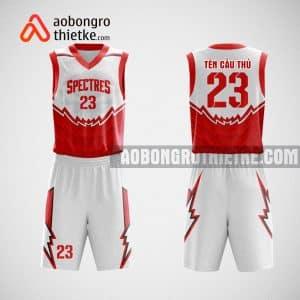 Mẫu đồng phục bóng rổ thiết kế màu đỏ red white ABR28