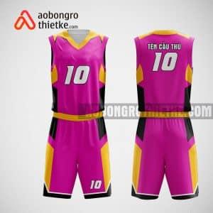 Mẫu đồng phục bóng rổ thiết kế màu hông pink park ABR36