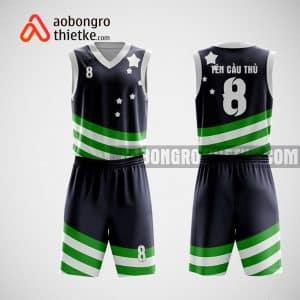 Mẫu đồng phục bóng rổ thiết kế màu tím than STAR ABR234