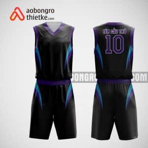 Mẫu đồng phục bóng rổ thiết kế màu tím violet ABR37