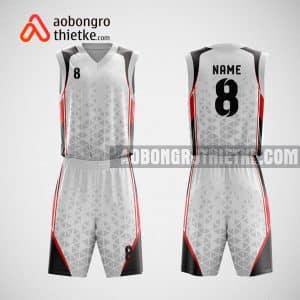 Mẫu đồng phục bóng rổ thiết kế màu trắng WHITE ABR67
