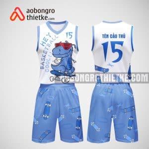 Mẫu đồng phục bóng rổ thiết kế màu trắng dinosaurs ABR33