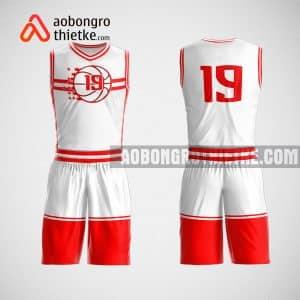 Mẫu đồng phục bóng rổ thiết kế màu trắng đỏ ABR63