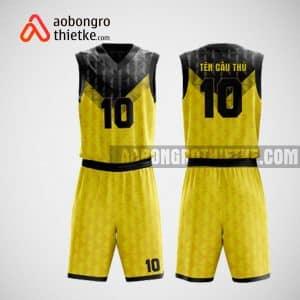 Mẫu đồng phục bóng rổ thiết kế màu vàng yellow black ABR52