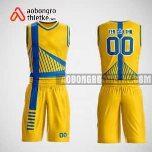Mẫu đồng phục bóng rổ thiết kế màu vàng yellow pask ABR41