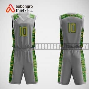 Mẫu đồng phục bóng rổ thiết kế màu xám gray ABR362