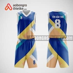 Mẫu đồng phục bóng rổ thiết kế màu xanh MIX ABR56