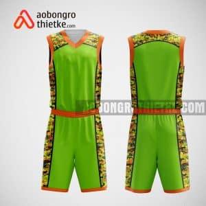 Mẫu đồng phục bóng rổ thiết kế màu xanh PATTERN ABR31