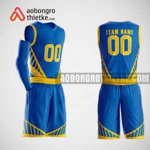 Mẫu đồng phục bóng rổ thiết kế màu xanh blue ABR44