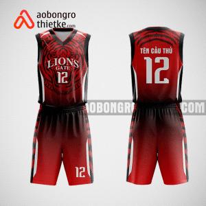 Mẫu đồng phục bóng rổ thiết kế màu xanh dương RED TIGER ABR27