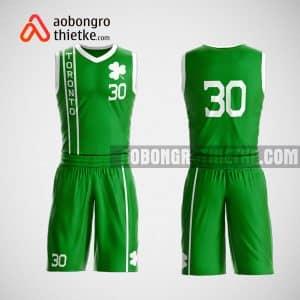 Mẫu đồng phục bóng rổ thiết kế màu xanh green ABR65