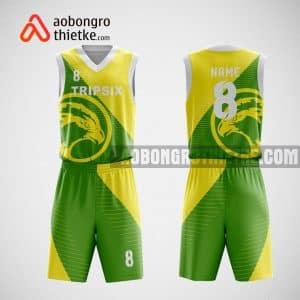 Mẫu đồng phục bóng rổ thiết kế màu xanh vàng GREEN ABR29
