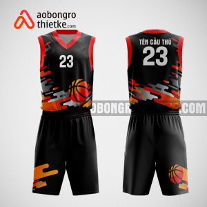 Mẫu quần áo bóng rổ thiết kế màu cam đen ball ABR193