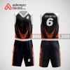 Mẫu quần áo bóng rổ thiết kế màu cam đen black ABR185