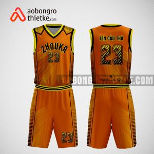 Mẫu quần áo bóng rổ thiết kế màu cam đen cream ABR251