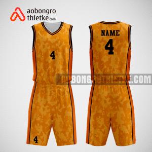Mẫu quần áo bóng rổ thiết kế màu cam đen hero ABR263