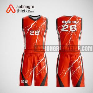 Mẫu quần áo bóng rổ thiết kế màu cam lighting ABR211