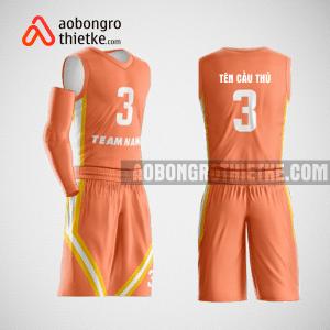 Mẫu quần áo bóng rổ thiết kế màu cam lion ABR148