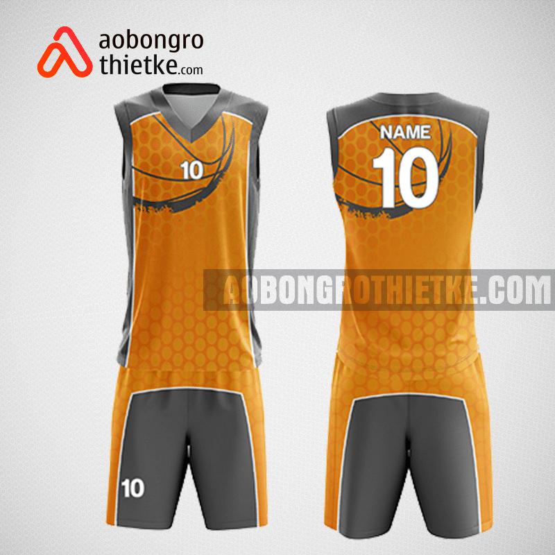 Mẫu quần áo bóng rổ thiết kế màu cam sám ABR200
