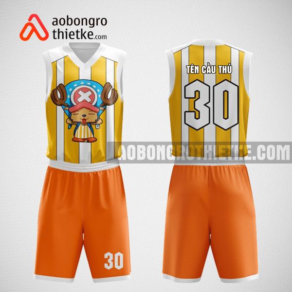 Mẫu quần áo bóng rổ thiết kế màu cam trắng ABR86