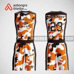 Mẫu quần áo bóng rổ thiết kế màu cam trắng đen liquid ABR227