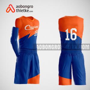 Mẫu quần áo bóng rổ thiết kế màu cam xanh ABR141